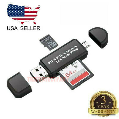 Micro USB OTG to USB 2-0 Adapter SDMicro SD Card Reader With Standard USB Male