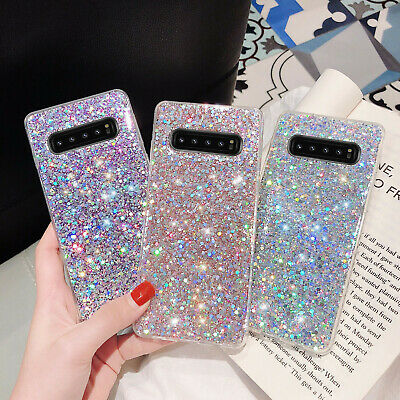 For Samsung Galaxy S10 PlusS10eNote 10- Phone Case Bling Glitter Rubber Cover