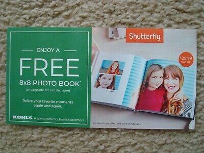 Shutterfly 8 x 8 Hard Cover Photo Book Coupon Code Exp 07312019 29-99