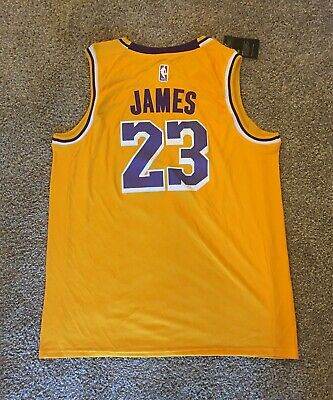 Replica LeBron James Mens Adult Large Jersey LA Lakers AmarilloField