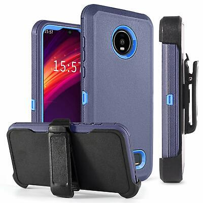 For Motorola Moto Z4  Z4 Play Case Shockproof Stand Armor Cover With Belt Clip