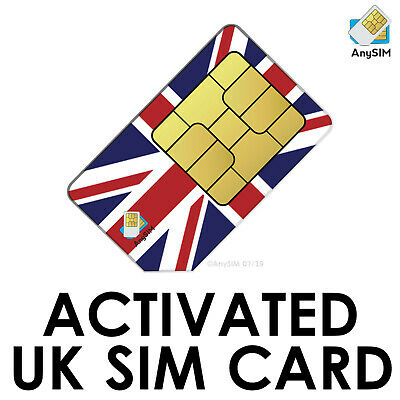 Active UK Network SIM Card Receive FREE SMS Worldwide SMS account verification