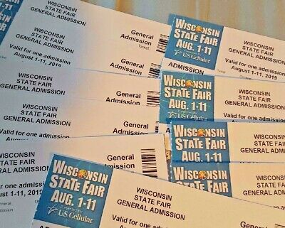 Wisconsin State Fair 2019 General Admission Tickets