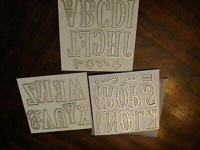Stampin Up - Large Letters Framelits Dies - NEW - RETIRED