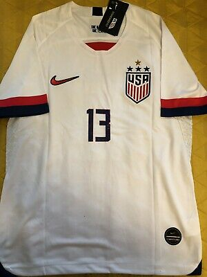 Alex Morgan MENS Jersey 2019 World Cup 4 STARS  United States  USA White