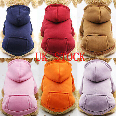 US Pet Dog Sweater Soft Dogs Clothes Sports Hoodie Jumper Coat Puppy Cat Apparel