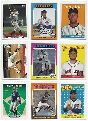 2019 TOPPS ARCHIVES s 1-200   RCs STARS HOF  - WHO DO YOU NEED