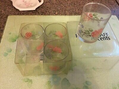 Pfaltzgraff Tea Rose Votive Cups - 4 New in Box