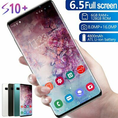 S10- 6-5Android Smartphone 6GB-128GB Face Fingerprint Recognition Dual Unlocked