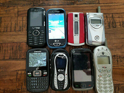 9 Used Cell Phone Nokia LG Motorola Samsung ONLY PARTS  NOT WORKING