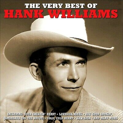 HANK WILLIAMS    50 Greatest Hits    2-CD SET    All Original Songs    NEW