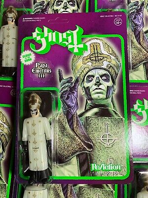 Super7 Heavy Metal  Ghost ReAction Figure Glow Papa Emeritus 3 Action