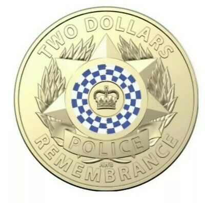 Australia UNC Coin 2019 2 National Police Remembrance Day from RAM sachet bag