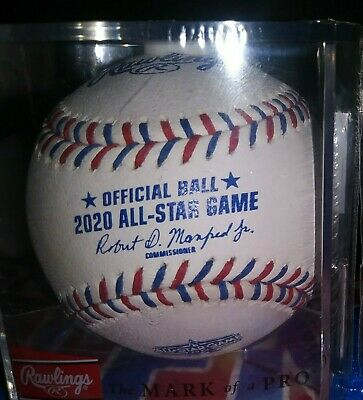 2020 Official Rawlings All Star Game baseball Los Angeles Dodgers wcube