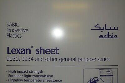 Lexan Polycarbonate Sheet  12 Clear  CHOOSE A SIZE