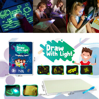 A3 Magic Draw With Light Drawing Board Painting Writing Pad Educational Toy US