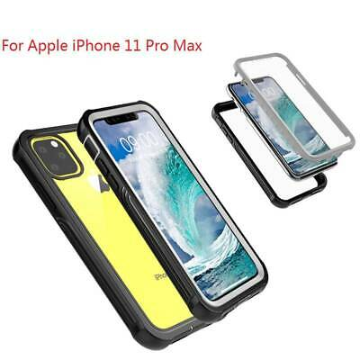 For iPhone 11 11 Pro Max Rugged Armor Case Shockproof Cover W Screen Protector