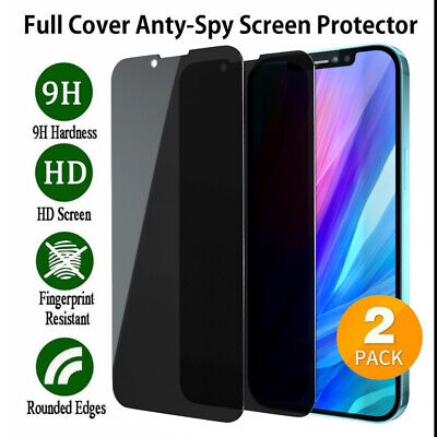 For Apple iPhone 11 Pro Max Full Cover Privacy Anti-Spy Glass Screen Protector
