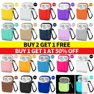 For AirPods Silicone Case - Keychain Protective Cover Skin For AirPod Case 2 - 1