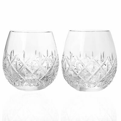 Waterford Crystal Astor Set of 2 14 oz Stemless Wine Glasses