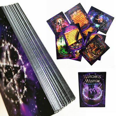 US Witches Wisdom Oracle Cards Guidebook Tarot Readings Wiccan Pagan 48 Cards