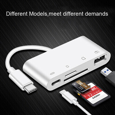 Type C Card Reader SD TF CF USB Flash Disk Mouse OTG Adapter for Samsung Huawei