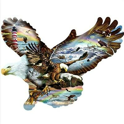 Half Drill DIY 5D Eagle Diamond Painting Kits Art Embroidery Wall Decors Gifts