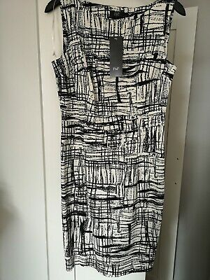 F-F Monochrome Pencil Dress Size 10 BNWT RRP £24 Kate Middleton style LBD