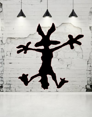 Wile E Coyote Hitting Wall Splat Wiley Vinyl Decal Sticker