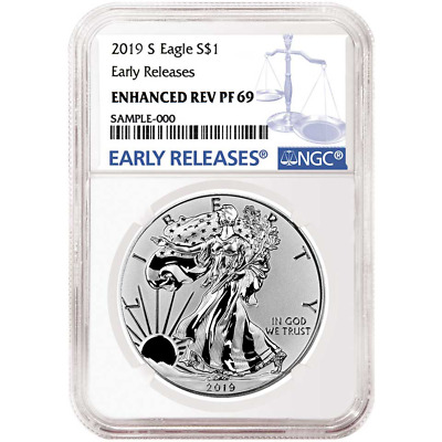2019-S Enhanced Reverse Proof 1 American Silver Eagle NGC PF69 Blue ER Label