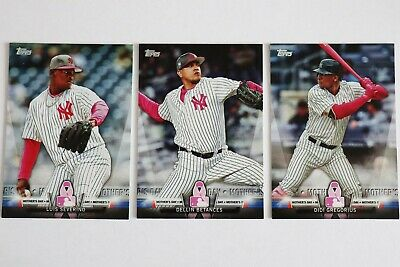 2018 Topps Salute Mothers Day New York Yankees lot Gregorius Betances Severino