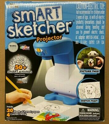 SMART SKETCHER DRAWING PROJECTOR with 50 SMART Activities with Papers - Pencils