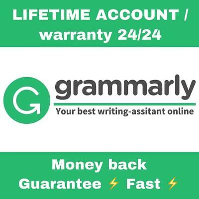 SALE  Grammarly Premium Lifetime Account Fast Delivery 100 Guaranteed