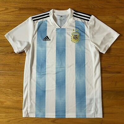 Argentina Vintage World Cup Adidas Soccer Jersey L FIFA