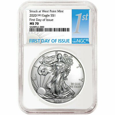 2020 W 1 American Silver Eagle NGC MS70 FDI First Label