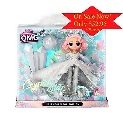 LOL Surprise OMG L-O-L- CRYSTAL STAR COLLECTOR DOLL O-M-G- 2019 New In Stock