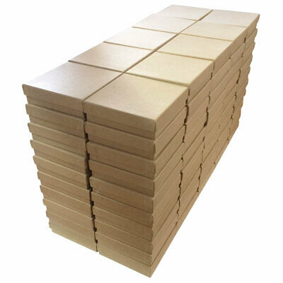 Kraft Cotton Filled Gift Boxes Jewelry Cardboard Box Lots of 100200500