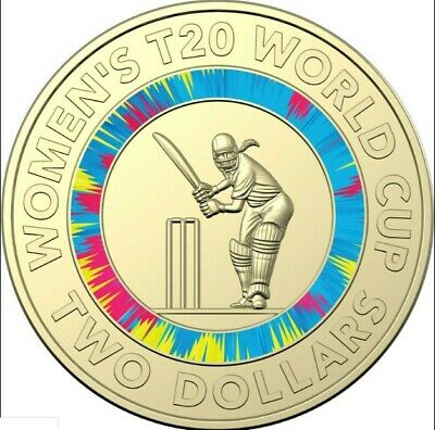 2020 ICC WOMENS T20 WORLD CUP 2 DOLLAR COIN