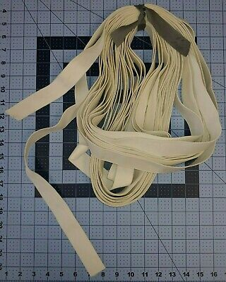 20- YARDS White KNIT Elastic 1 Wide LOT Smudges