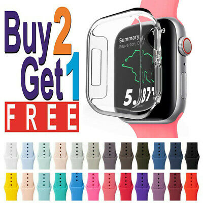 Silicone Wrist Band Strap For Apple Watch 123456SE Sports 44424038mm