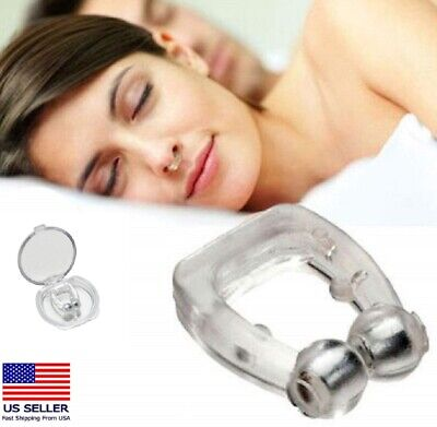 4 Pack Silicone Clipple Magnetic Anti Snore Stop Snoring Nose Clips Sleeping Aid