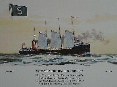 Robert McGreevy Steambarge Onoko signed and numbered print