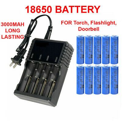 18650 Battery Li-ion 3-7V Rechargeable Batteries For LED Flashlight Head Torch