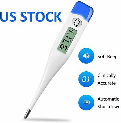 Digital Fever Thermometer for Adults and Kids Medical OralRectalUnderarm Body