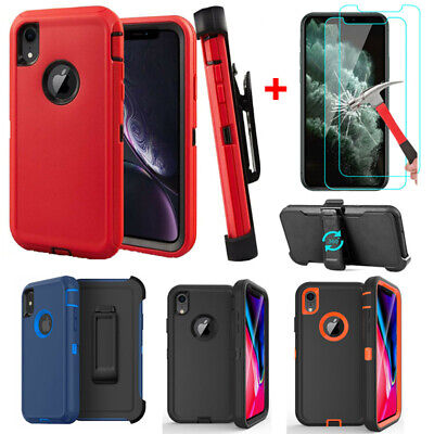 For iPhone XR XS Max Shockproof Rugged Case-SCREEN with Belt Clip fit Otterbox