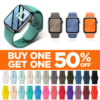 For Apple Watch Silicone Band Strap Series SE 1 2 3 4 5 6 7 Sports 38404244mm