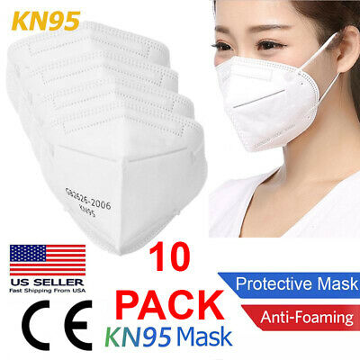 10 PCS KN95 Face Mask Disposable Mouth Cover Medical Protective Respirator PM2-5