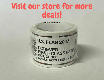 US Forever Flag Postage Stamps roll of 100 FAST FREE SHIPPING