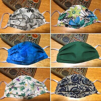 Washable Reusable Fabric Face Mask 100 Cotton FREE SHIPPING Adult Size