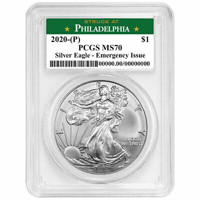 2020 P 1 American Silver Eagle PCGS MS70 Emergency Production Philadelphia La